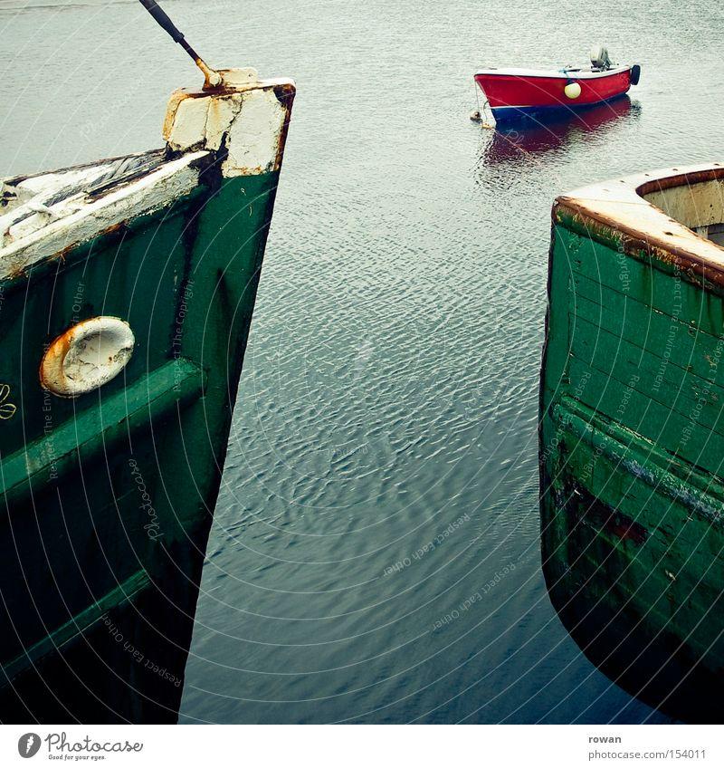 schiffsbegegnung Meer See Wasserfahrzeug Hafen Segeln Jacht Fischer ankern Fischerboot Sportboot