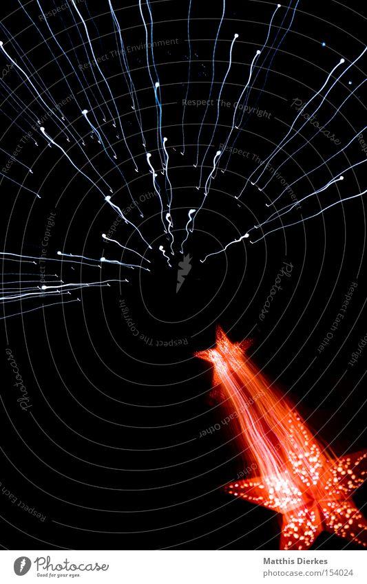 Starlight Stern Weihnachten & Advent Weltall Bewegung Weihnachtsstern Galaxie Zoomeffekt Firmament Himmel rot Lichtgeschwindigkeit Langzeitbelichtung Stargate