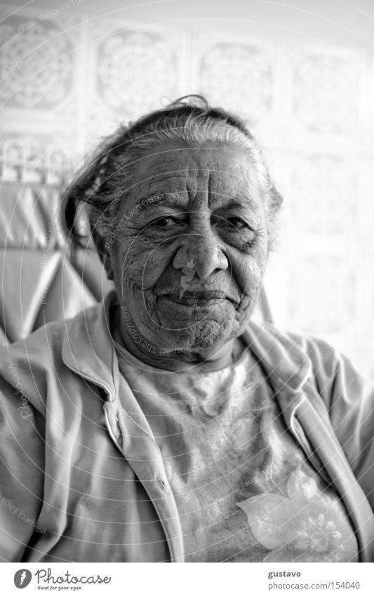 Frau Mensch alt Gesicht Hautfalten Brasilien