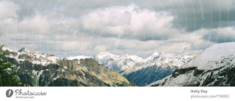 Rocky Mountains Berge u. Gebirge Banff National Park Nationalpark Alberta Kanada kalt Wolken Freiheit Gipfel Kontrast Gletscher Himmel Alpen Schnee
