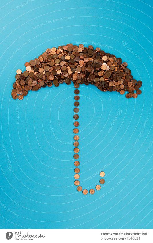 Eurorettungsschirm III Kunst Kunstwerk ästhetisch Schirm Regenschirm Geldmünzen Münzenberg Kupfer Bronze gebastelt Collage viele Geldinstitut Geldnot Geldgeber