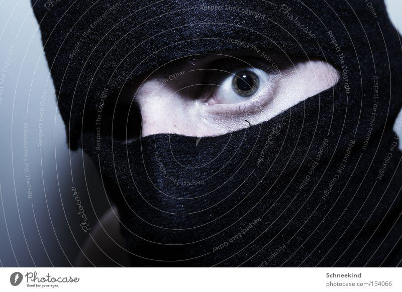 Spion Auge Angst gefährlich Maske Panik Kampfsport Spitzel Ninja Attentäter Nirwana