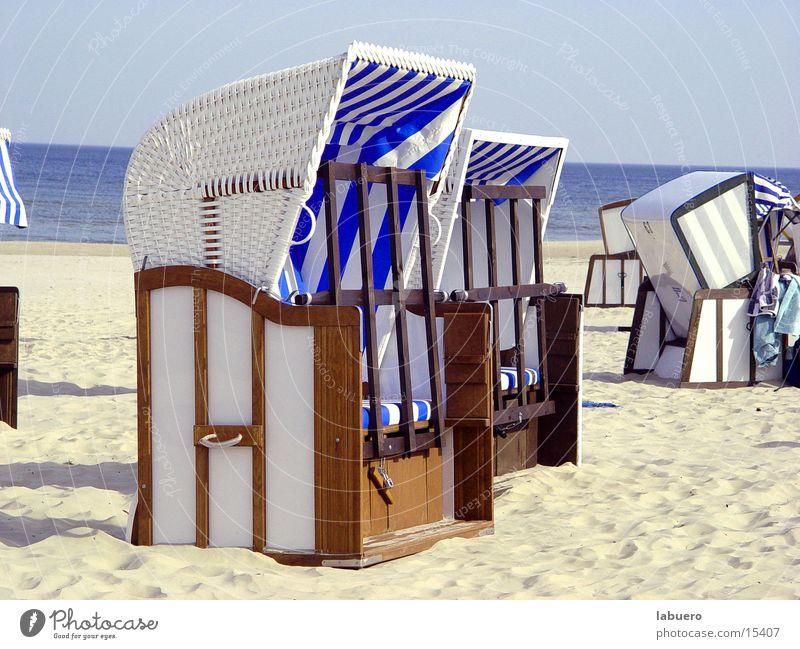 Die Letzten Sonne Meer Strand Sand Europa Ostsee Strandkorb