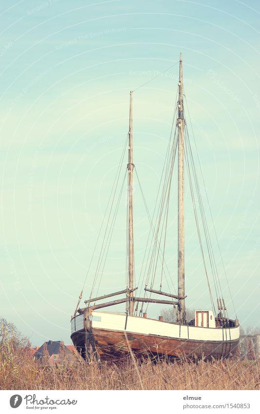 eingeparkt Ferien & Urlaub & Reisen Einsamkeit ruhig Küste Holz träumen liegen Kindheit warten Lebensfreude Romantik Abenteuer Pause historisch Vergangenheit trocken