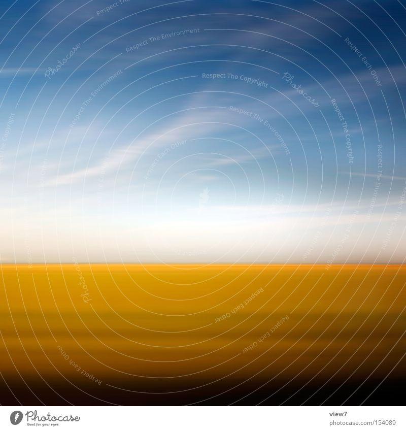 Reise Himmel Natur schön Sommer Ferne Farbe Gefühle abstrakt träumen Stimmung Linie Kunst Horizont Hintergrundbild gold Verkehr