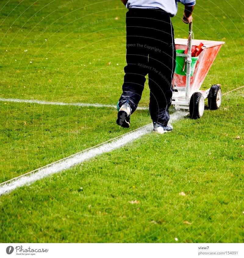 Markierer grün Sport Spielen Linie Fußball Schilder & Markierungen Platz Rasen Sportrasen Handwerk Maschine Fußballplatz Wagen Kalk Ballsport Vorbereitung