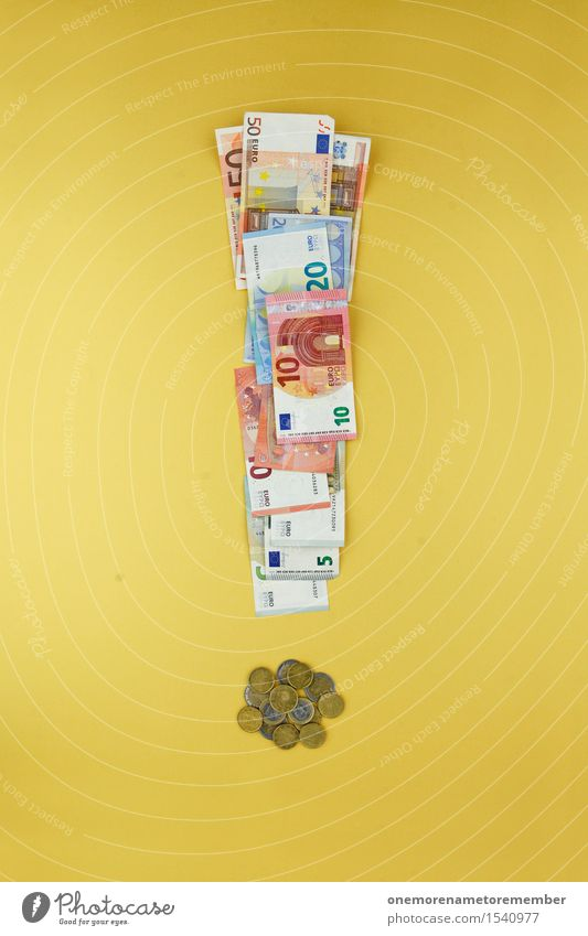 Euro Hammer! Kunst Business ästhetisch Europa Geld viele Risiko Typographie Kunstwerk sparen hart Eurozeichen Geldmünzen Altersversorgung Ausrufezeichen