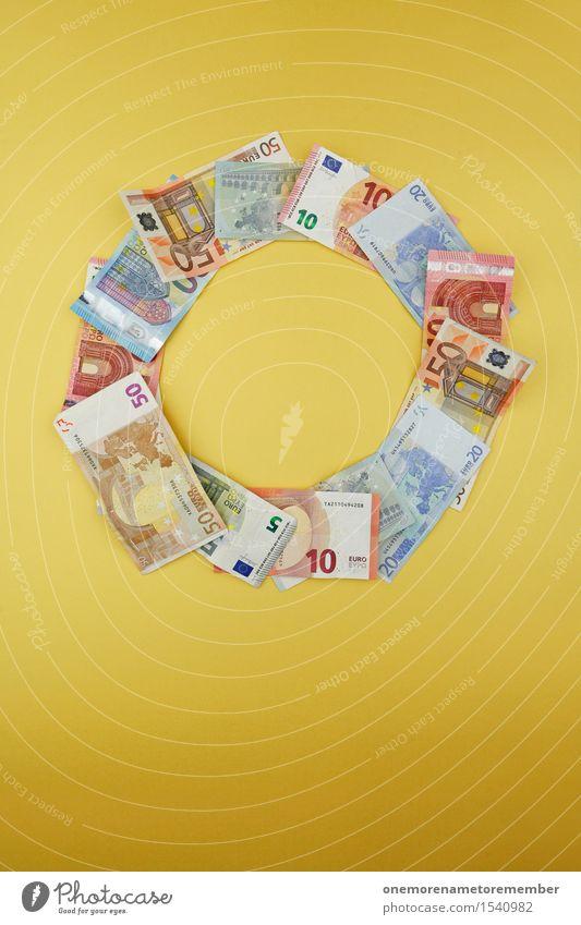 Geldkreislauf Kunst Kunstwerk ästhetisch Herz-/Kreislauf-System Kreativität Geldscheine Euro Euroschein angeordnet Symmetrie gestalten Design Business Farbfoto