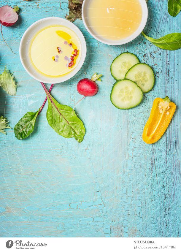 Öl und Honig Dressings für Gemüse -Salat Lebensmittel Salatbeilage Kräuter & Gewürze Ernährung Mittagessen Abendessen Festessen Bioprodukte Diät