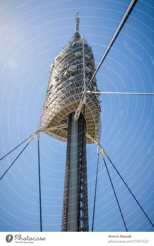 Fernsehturm Barcelona Ferien & Urlaub & Reisen Sommer Architektur Design Zufriedenheit modern Glas ästhetisch hoch groß Schönes Wetter Turm Wahrzeichen