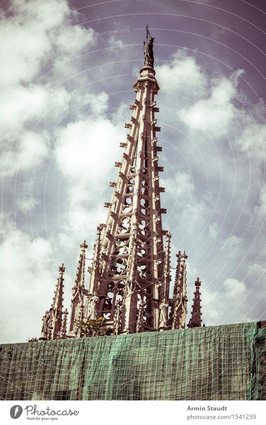 Kathedrale des heiligen Kreuzes, Barcelona Stil Ferien & Urlaub & Reisen Tourismus Sommer Dekoration & Verzierung Himmel Schönes Wetter Stadtzentrum Altstadt