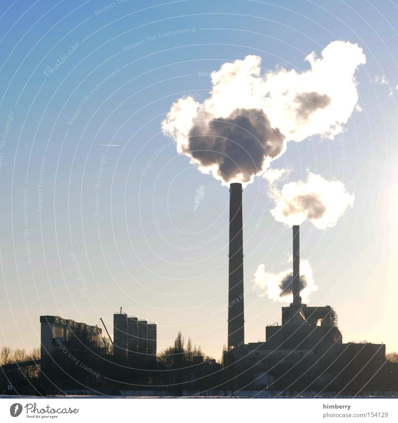 co2periode Gebäude Energie Industrie Elektrizität Industriefotografie Fabrik Abgas Schornstein ökologisch Heizkörper Chemie Stromkraftwerke Kohlendioxid