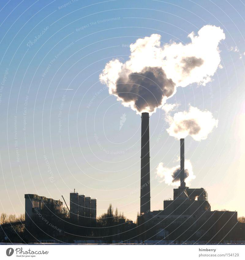 co2periode Stromkraftwerke Heizkraftwerk Elektrizität Energie Emission ökologisch Energiesparer Abgas Schadstoff Schornstein Industriefotografie Fabrik Gebäude