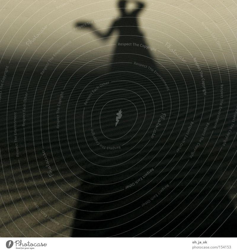 fata morgana Sand Düne Strand Wärme Schatten Wüste Erscheinung Wellen Strukturen & Formen Verlauf Ferien & Urlaub & Reisen Küste