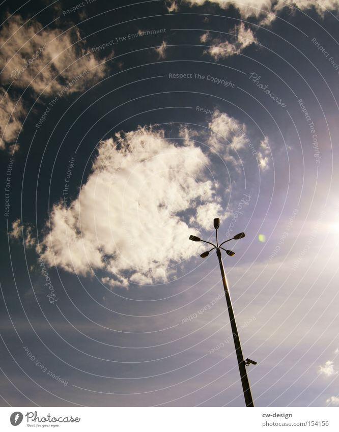 STASI 2.0 Laterne Fotokamera Überwachung Ministerium für Staatssicherheit überwachen Video Vorsicht Himmel Überwachungsstaat Wissenschaften Detailaufnahme