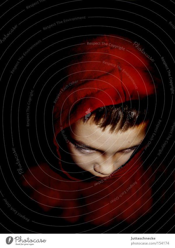 Damien II Kind rot Junge gefährlich Karneval gruselig Kapuze Halloween Teufel