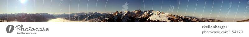 Halsverdreher Panorama (Aussicht) Berge u. Gebirge Alpen Schweiz Sonne Schnee Bundesland Vorarlberg Berg Säntis Alpstein Winter Hoher Kasten Appenzellerland
