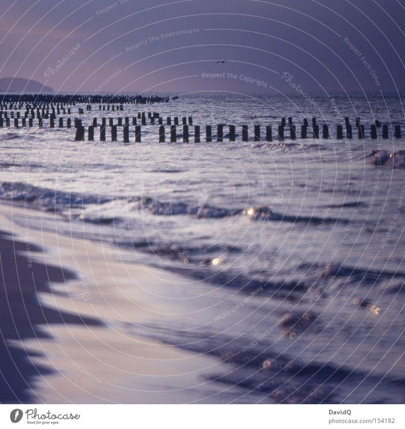 Strand Wasser Meer See Sand Wellen Küste Ostsee Buhne Polen Wellengang