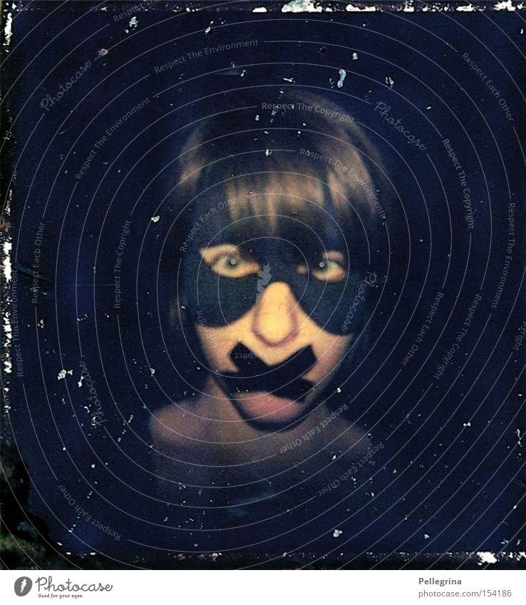X Frau ruhig schwarz dunkel Polaroid Maske Entwicklung stumm transferieren Klebeband