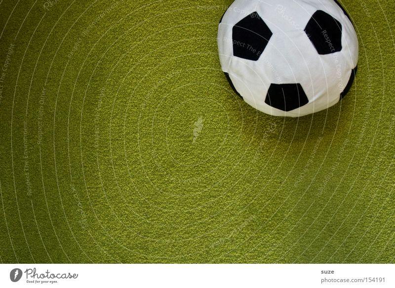 Ball-ack grün Sport klein Stil Freizeit & Hobby Lifestyle Erfolg Fußball weich Freundlichkeit Stoff Kitsch Spielzeug kuschlig