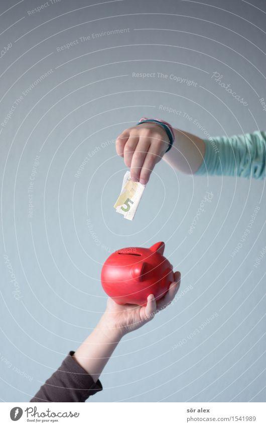 für später Kindererziehung lernen Kapitalwirtschaft Börse Geldinstitut Business Karriere Erfolg Kleinkind Mädchen Junge Kindheit Hand 3-8 Jahre Spardose