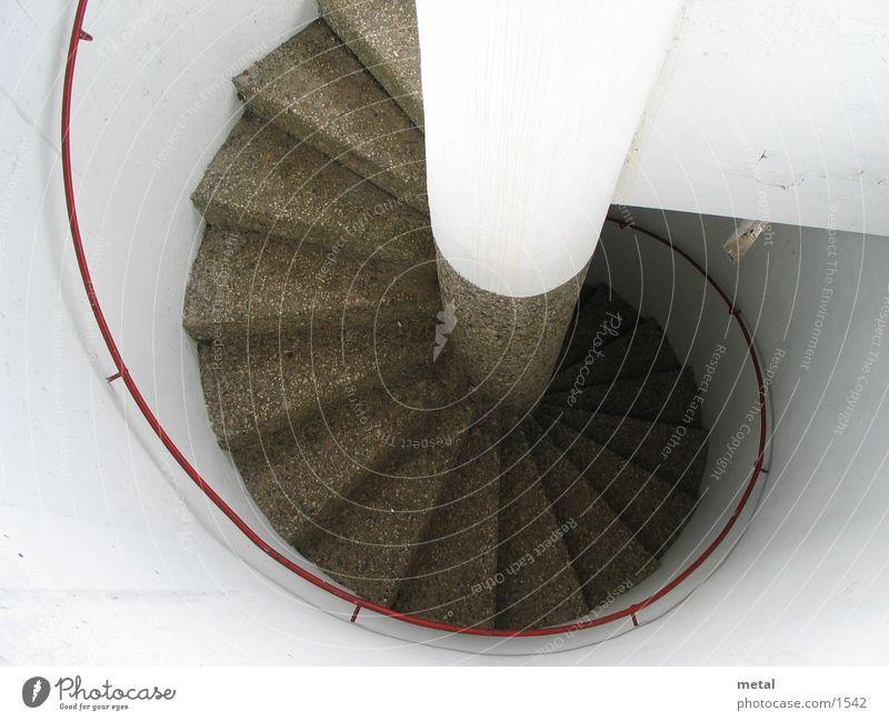 Turmtreppe weiß Architektur Kreis Treppe rund Turm