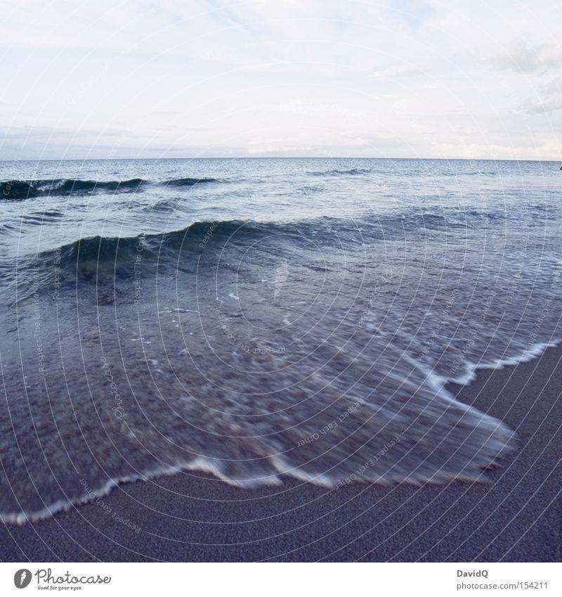 Wellengang Meer See Ostsee Wasser Küste Horizont Ferne Strand Sand