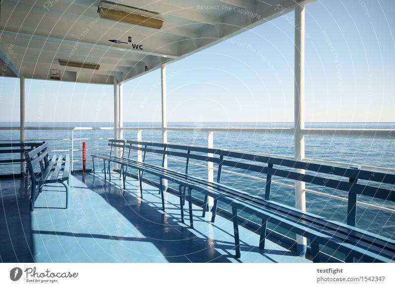 fähre Natur Ferien & Urlaub & Reisen Sommer Sonne Meer Umwelt Freiheit warten Unendlichkeit fahren Schifffahrt maritim Fähre Passagierschiff Binnenschifffahrt