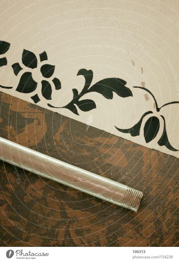 Fotonummer 106798 Pflanze Blatt Farbe Wand Tod Farbstoff Stimmung braun Raum Metall Kunst Fassade Kreis Niveau Dekoration & Verzierung Metallwaren