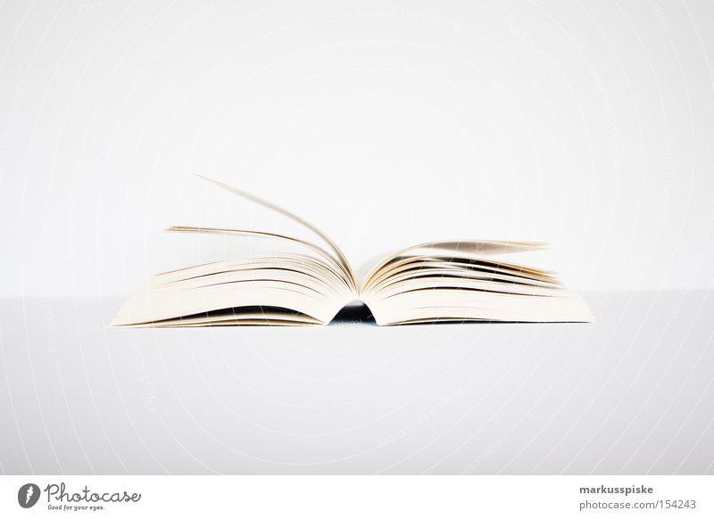 Vorleser Buch Buchstaben Schriftzeichen schreiben Literatur Kultur aufgeschlagen weiß Mitte Bibliothek Kommunizieren blättern