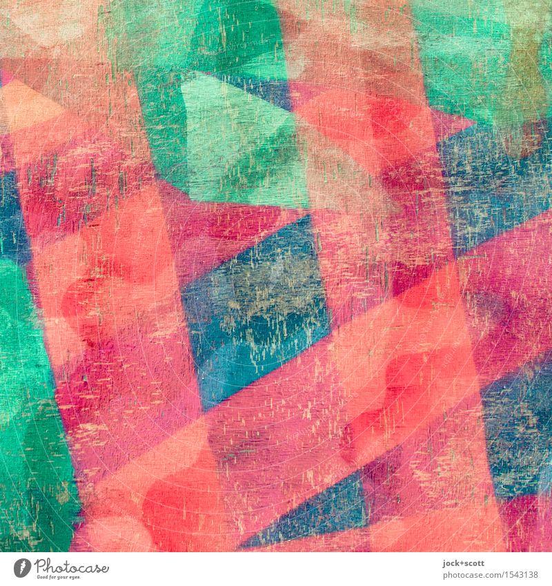 divers schön Farbe Holz Kunst Dekoration & Verzierung ästhetisch Fröhlichkeit Kreativität einzigartig Streifen Netzwerk viele Doppelbelichtung