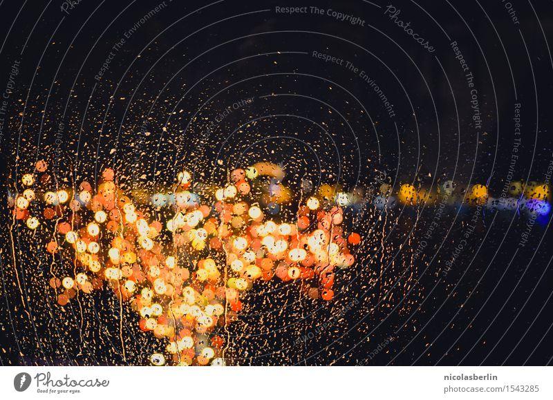 Xmas Lights Design Freude Winter Feste & Feiern Weihnachten & Advent Silvester u. Neujahr Wassertropfen Regen Fenster leuchten fantastisch groß nass schön Wärme