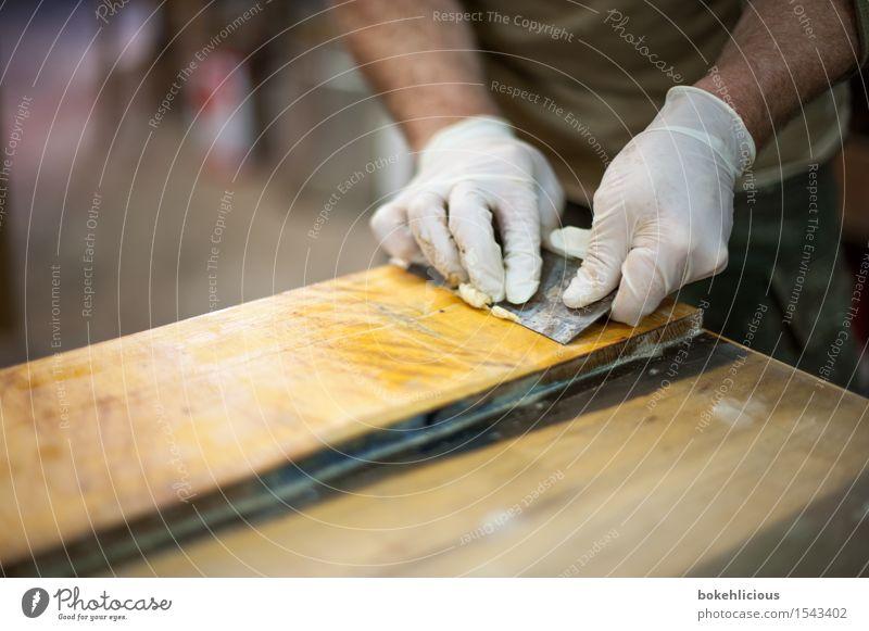 Handwerk IV Freizeit & Hobby Handarbeit heimwerken Wohnung Renovieren Möbel Handwerker maskulin Mann Erwachsene 1 Mensch Arbeitsbekleidung Schutzbekleidung