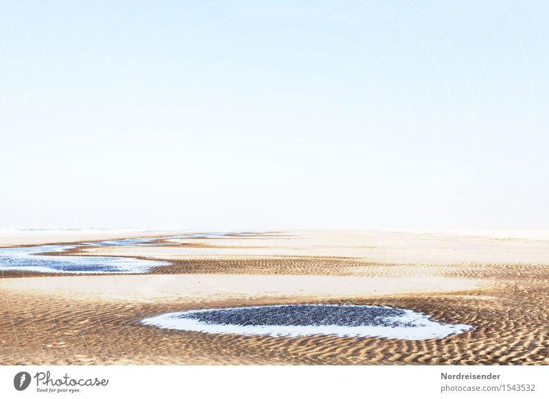 Weite Natur Ferien & Urlaub & Reisen Wasser Meer Landschaft Einsamkeit ruhig Ferne Strand Freiheit Sand träumen Luft frisch Schönes Wetter Abenteuer