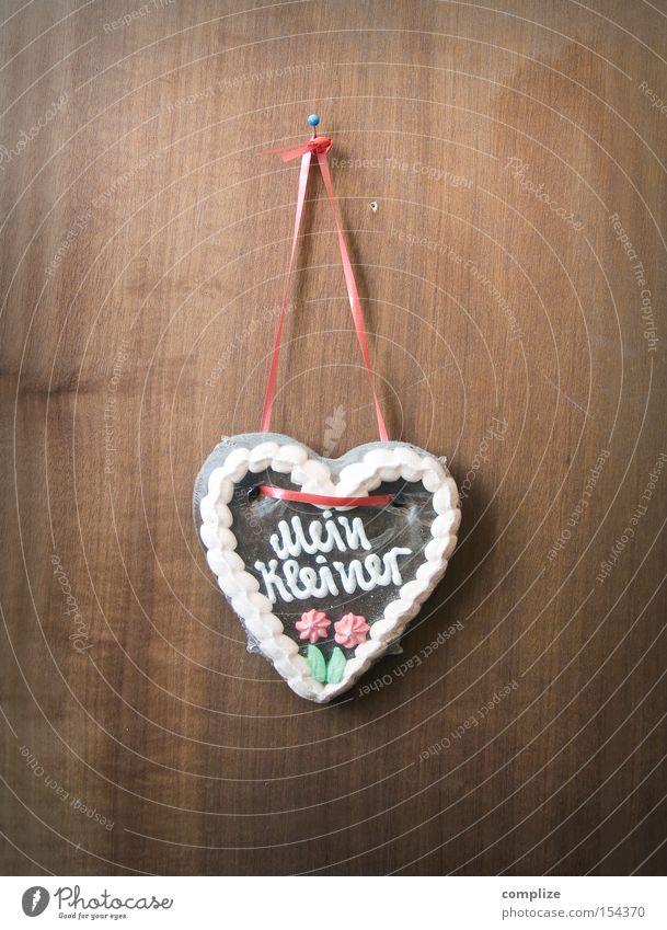 Mein Kleiner Süßwaren Ernährung Design Dekoration & Verzierung Oktoberfest Jahrmarkt Holz Herz Schnur alt Liebe Kitsch klein retro süß trist Wand