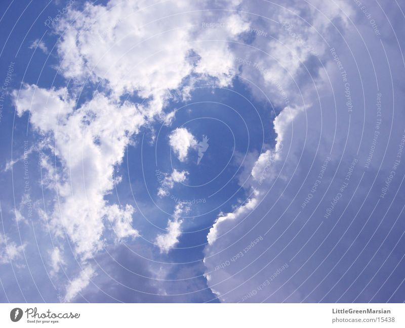 wolken 01 weiß blau Sommer Gewitter Kumulus