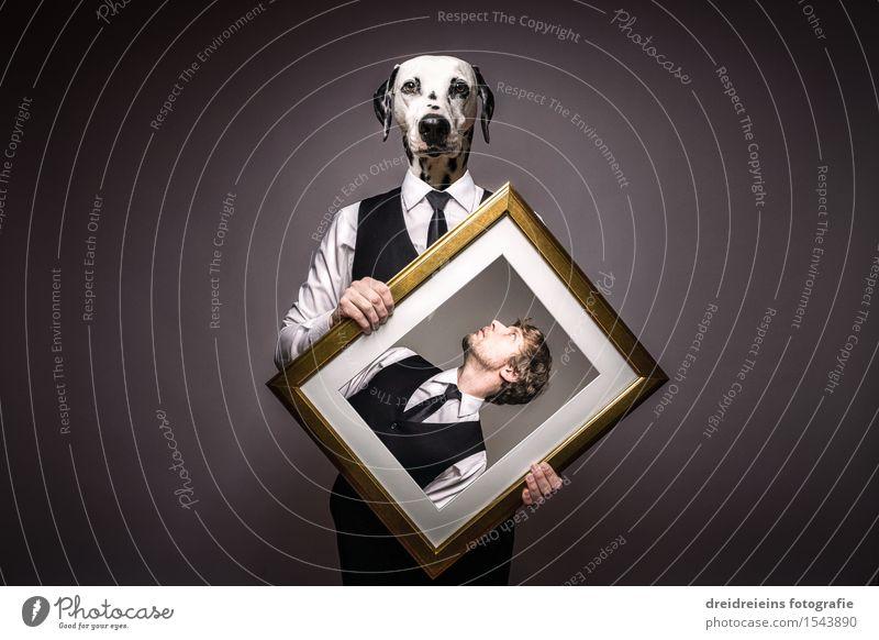 Herr und Hund oder Hund & Herr - Der Hundemensch. Hemd Anzug Krawatte Tier Haustier Dalmatiner Liebe elegant einzigartig seriös selbstbewußt Coolness Tierliebe
