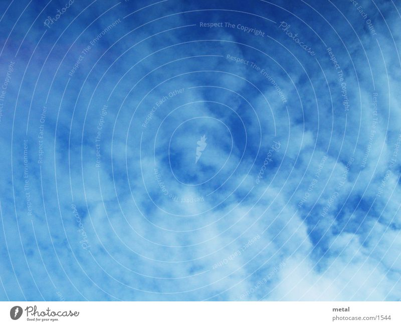 Wolken weiß Hintergrundbild Himmel blau