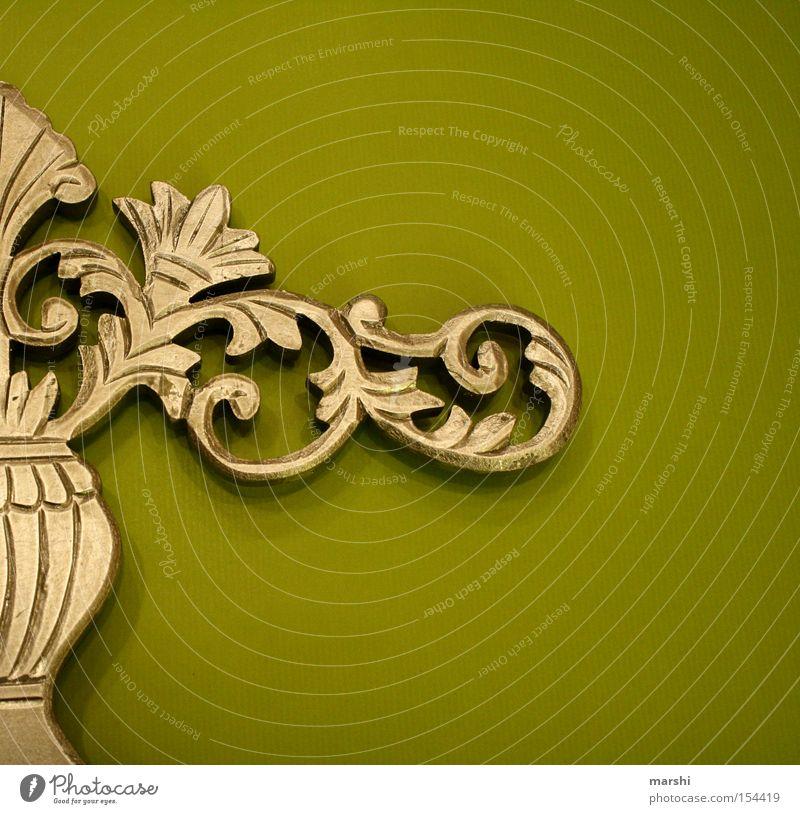 ::: Schnörkel ::: Kunst Dekoration & Verzierung grün Stuck verschönern gestalten Kultur Kunsthandwerk gold