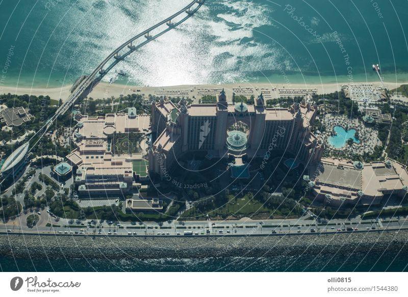 Atlantis The Palm Hotel Luftaufnahme Ferien & Urlaub & Reisen Stadt Meer Haus Strand Architektur Gebäude Sand Tourismus Aussicht Asien Reichtum Tourist Dubai