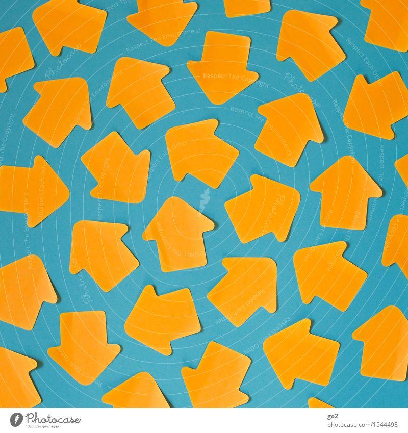 Durcheinander blau Leben sprechen orange Kommunizieren Zeichen Wandel & Veränderung Netzwerk Platzangst viele Team Zukunftsangst Kontakt Pfeil türkis Stress