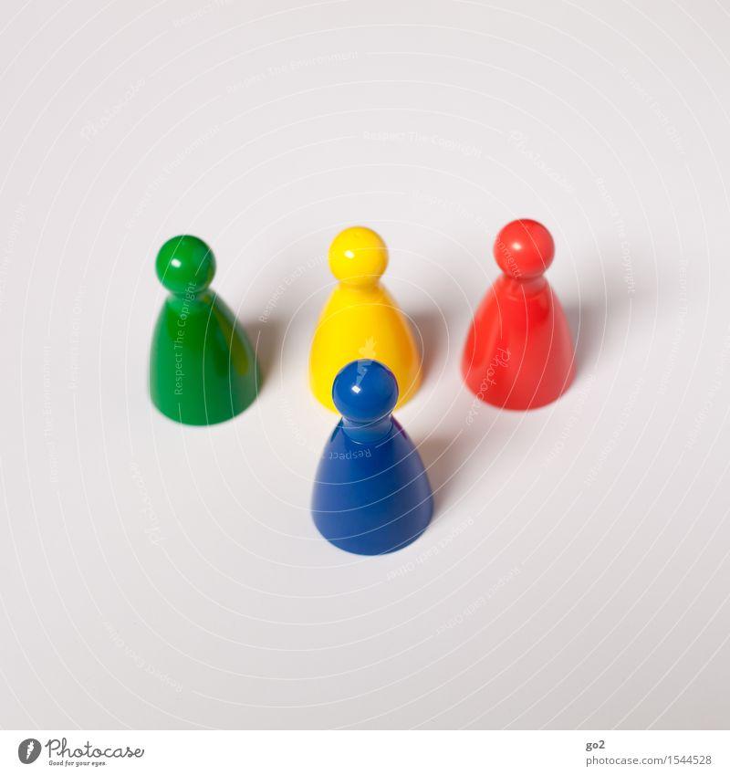 Bunte Kegel blau grün rot gelb Spielen Freizeit & Hobby Erfolg Kommunizieren einzigartig Team Karriere Teamwork Konkurrenz Fortschritt Kinderspiel Neid