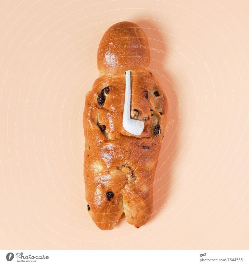 Weckmann Weihnachten & Advent Essen Lebensmittel braun Ernährung lecker Appetit & Hunger Brot Backwaren Teigwaren Bäcker Pfeife Kaffeetrinken Rosinen