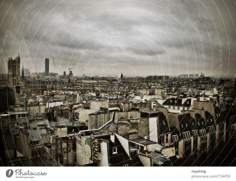 over the top alt Stadt Haus Horizont Frankreich Paris historisch Altbau Jugendstil