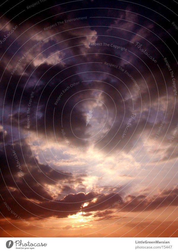 sunset 06 Himmel Sonne Wolken Farbe