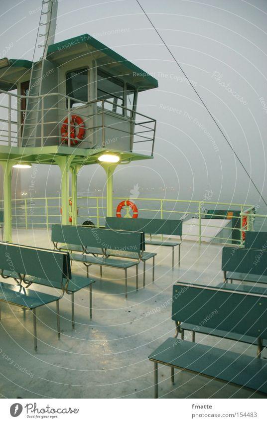 Fähre Meer Ferien & Urlaub & Reisen Wasserfahrzeug Nebel Bank Hafen Rettungsring