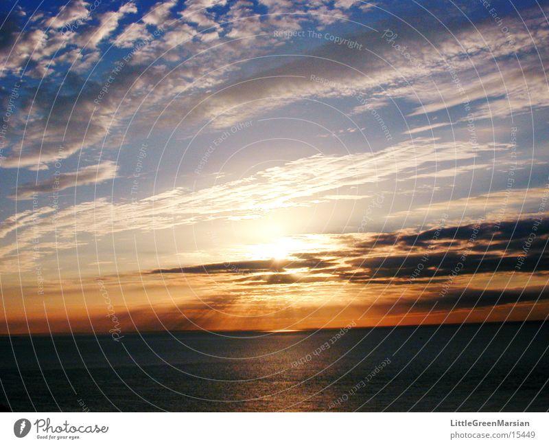 sunset 04 Himmel Sonne Wolken Farbe