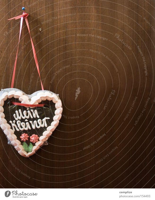 kleines Herz alt Liebe Ernährung Wand Holz Deutschland Design Dekoration & Verzierung süß trist retro Schnur Kitsch Süßwaren
