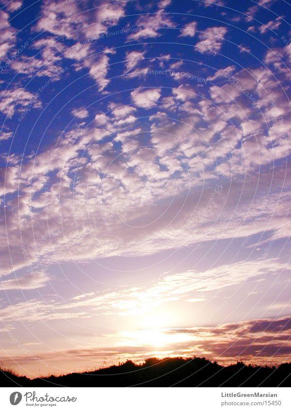 sunset  03 Himmel Sonne Wolken Farbe Altokumulus Altokumulus floccus