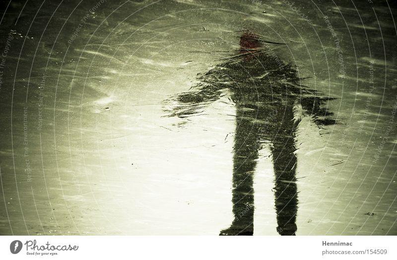 Eisgeist III Reflexion & Spiegelung Spiegelbild Geister u. Gespenster unheimlich Winter kalt gefroren Mensch Silhouette Unschärfe Oberfläche Strukturen & Formen
